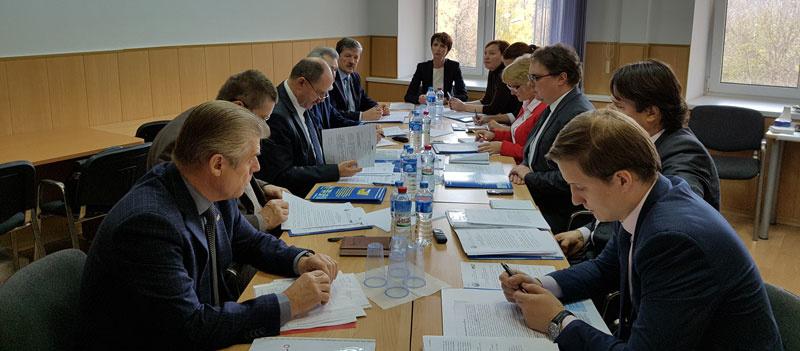 Участники заседания Комиссии по вопросам регулирования социально-трудовых отношений в электроэнергетике